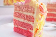 PINK LEMONADE OMBRE CAKE. Recipes with photos of delicious cakes.