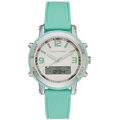 Skechers Mint Womens Mint Green Silicone Ana-Digi Watch ($38) ❤ liked on Polyvore featuring jewelry, watches, mint, mint green jewelry, silicone jewelry, skechers watches, silicon watches and analog digital watches