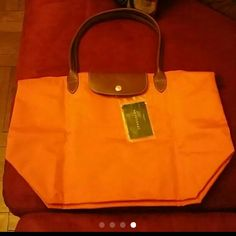 Longchamp Shoulder Bag 100% authentic,Brand new with authenticity card this is the big one,orange Longchamp  Bags Shoulder Bags