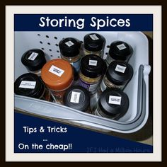 A Few Tips and Tricks for storing spices on the cheap