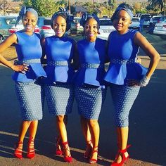 Tswana Traditional Dresses For Bridesmaids 2020 ⋆ African Bridesmaid Dresses, African Wedding Attire, Bridesmaid Dresses 2018, African Attire, African Fashion Dresses, African Dress, Bridesmaids, Queen Wedding Dress, Wedding Dress Trends