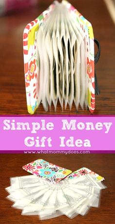 Cute & Creative Money Gift Idea - a unique way to give money s a gift for Christmas, birthdays, or graduation presents...hidden in a clever package. Make a great last-minute gift idea, too!