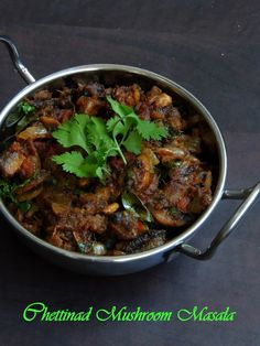 Mushroom masala-Chettinad Style, Chettinad Kaalan Curry