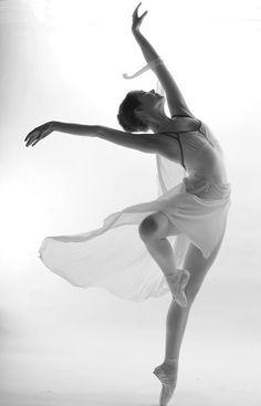 Dance photo in black & white.