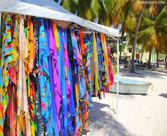 Let's start the week with a burst of color! (thanks to the beach vendors on Worthing Beach, #Barbados)