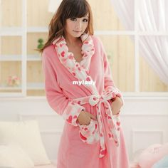 Wholesale Men's Sleepwear - Buy Winter Nightgown Girls Long Section of Thick Coral Velvet Romantic Cute Girls Bathrobe, $39.04 | DHgate
