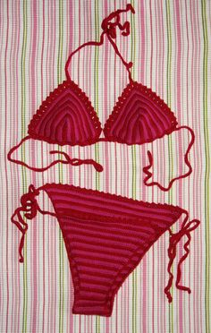 Ravelry: CROCHET BIKINI ADRIA pattern by Fashion Martina  free download.  Made one of these when I was younger.