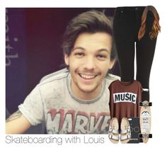 """""""Skateboarding with Louis"""" by hpforever00 ❤ liked on Polyvore featuring Topshop, Birkenstock, Isabel Marant, louistomlinson, OTRATour and TalisLittleTag"""