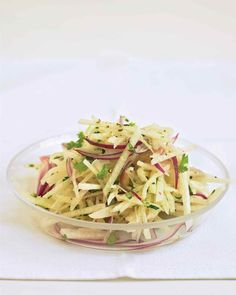 Jicama Slaw | Everyday Food -- Just 4 ingredients (plus salt and pepper) in this cool salad.