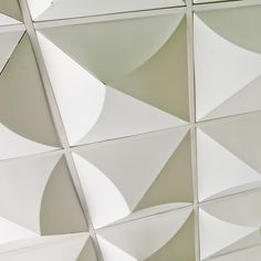 Bloom FoldScapes Ceiling Tiles by MIO. Crafted out of recycled, double-wall corrugated cardboard, Foldscapes are a new concept in three-dimensional drop ceiling tiles—and a cost-effective, dramatic solution for spaces that require suspended ceilings. They can be used to cover damaged ceilings, finish basements, or create dramatic interior architecture in residential and commercial settings.