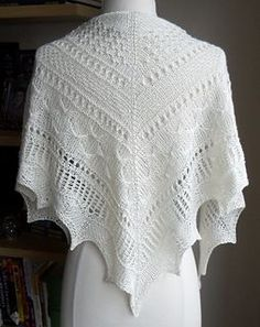 Ravelry: Mirabelle Texture Sampler Shawl pattern by Zehava Jacobs (fingering weight) Knit Or Crochet, Lace Knitting, Crochet Shawl, Knitting Stitches, Knitting Designs, Knitting Patterns Free, Knit Patterns, Free Pattern, Crochet Vests
