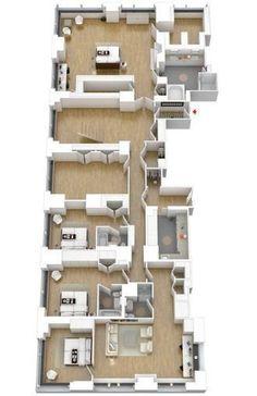 Bilderesultat for floor plan for Rosehill cottage in the movie The