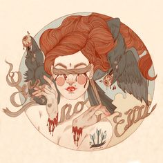 'See No Evil' from my See No/Hear No/Speak No print set - Liz Clements Illustration