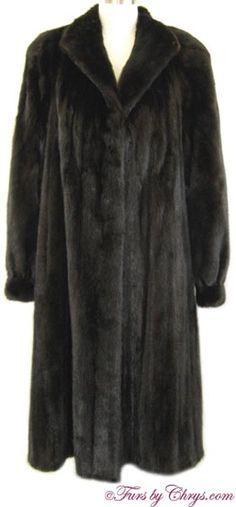 Blackglama Ranch Mink Coat Size Range: 12 - 18 Misses or Tall, Price: SOLD, Excellent Condition Mink Coats, Mink Fur, Fur Coat, Shoulder Pads, Cuff Bracelets, Female, Furs, Don't Care, 1930s