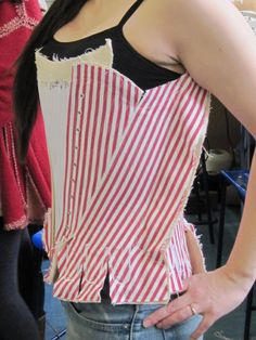 Tutorial link.  Checking the corset fits