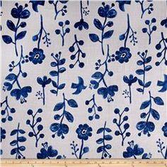 Kokka Trefle Nature Double Gauze Gray Blue