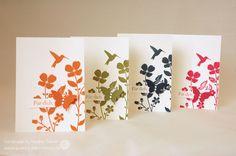 #stampin up. Dankeskarte mit dem Stempelset Wildflower Meadow | puenktchenstempel.de
