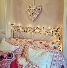 Detalhes de charme nos quartos: luzinha