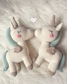 They are happy I am happy picPattern👉🏻 …. Crochet Unicorn Pattern, Crochet Horse, Crochet Mermaid, Crochet Animals, Crochet Stitches Patterns, Crochet Patterns Amigurumi, Amigurumi Doll, Crochet Dolls, Kawaii Crochet