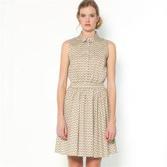 Bedrukte jurk, stretch satijn