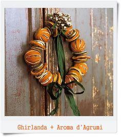 Ghirlanda con mandarini