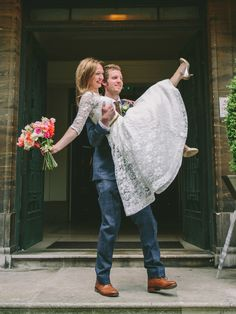 Bride and Groom from a 50's Vintage Inspired, Colourful London Pub Wedding | Photography by http://www.mhweddings.photo/