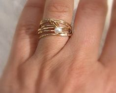 Mother's Day Ring Twisted Ring in 14K gold filled door yifatbareket, $65.00