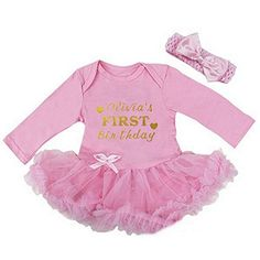 Kirei Sui Baby Personalized First Birthday Bodysuit Tutu ... https://www.amazon.com/dp/B06XQ3VRRC/ref=cm_sw_r_pi_dp_x_yBWhzbDCC1AB7