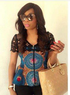 Kitenge n lace ~African fashion, Ankara, kitenge, African women dresses, African prints, African men's fashion, Nigerian style, Ghanaian fashion ~DKK