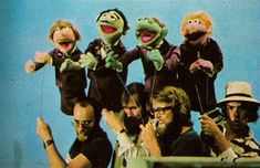Jerry Nelson, Jim Henson, Dave Goelz, and Richard Hunt filming The Muppet Show.