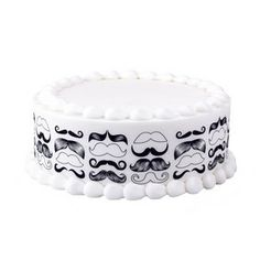 Lucks Mustache Designer Prints Edible Image