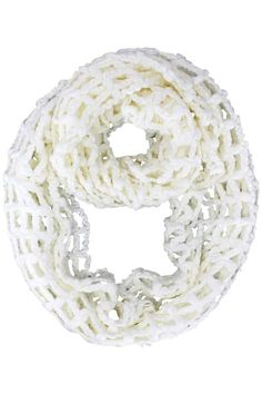 Knit Mesh Infinity Scarf
