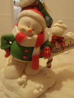 christmas - christmas cake topper - snowman