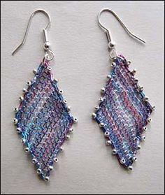 renda de bilros / bobbin lace bijuteria/ jewelry Lace Jewelry, Jewellery, Lace Making, Bobbin Lace, Diy And Crafts, Crochet Earrings, My Favorite Things, How To Make, Hand Art