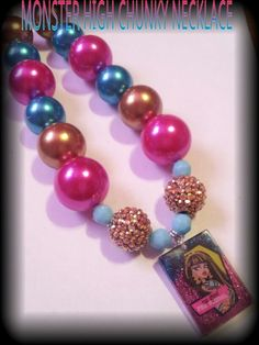 Monster high chunky necklace