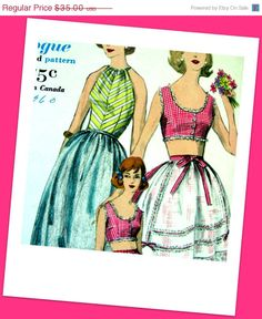 ON SALE Vintage 50's Sewing Pattern Back in style