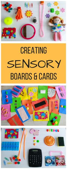 How to make infant sensory boards and cards to entertain and educate curious babies.