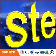 Custom LED letters sign for famous brand names log  Price: $150  Buy From AliExpress:http://5.gp/mymA
