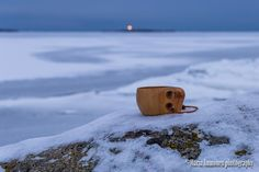 Coffeetime and blinking lighthouse. - Clickasnap