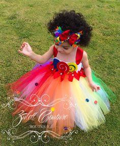Arco iris tutú vestido Tutu color por ZulettCouture en Etsy                                                                                                                                                      Más