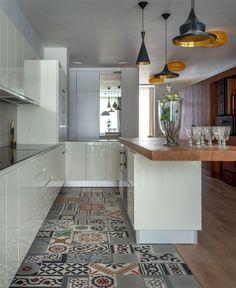 Inspirational Traveler's Apartment by Studio Goodnova   Godiniaux limited space white kitchen