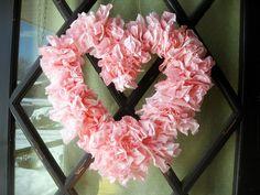 Coffee Filter Valentine's Wreath
