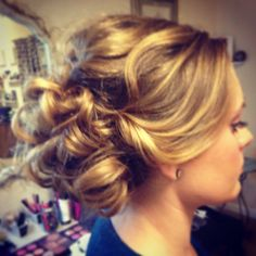 Soft romantic updo for wedding. Bridal updo. Hair by Jordan Winn.