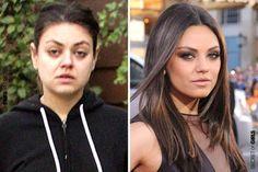 Mila Kunis Without Makeup, Jennifer Aniston Without Makeup, Celebs Without Makeup, Jennifer Aniston Pictures, Jenifer Aniston, Celebrity Costumes, Celebrity Makeup, Celebrity Gossip, Makeup Tips