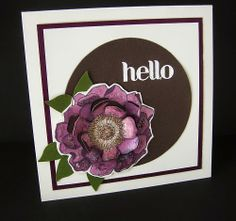 NEW GOODIES and BLENDABILITIES~ Here I used the Rich Razzleberry Blendabilities set to color Blended Blossom  Stampin' Up!