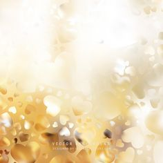 Abstract Light Gold Heart Background #freevectors