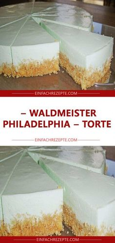 Waldmeister Philadelphia Torte Waldmeister Philadelphia Torte The post Waldmeister Philadelphia Torte appeared first on Kuchen Rezepte. Easy Vanilla Cake Recipe, Baked Cheesecake Recipe, Chocolate Cake Recipe Easy, Homemade Cheesecake, Chocolate Cookie Recipes, Chocolate Chip Cookies, Cheesecake Cookies, Chocolate Chips, Dessert Simple