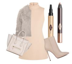 """""""Untitled #50"""" by juliettepep ❤ liked on Polyvore featuring Calvin Klein Collection, STELLA McCARTNEY, Charlotte Tilbury and Akira Black Label"""