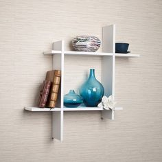 Revamp your walls with this DANYA B Contempo White Laminate MDF Asymmetric Square Floating Wall Shelf. Wooden Bedroom, Bedroom Wall, Bedroom Ideas, Bedroom Shelving, Cube Shelves, Display Shelves, Floating Wall Shelves White, Modern Furniture, Home Furniture