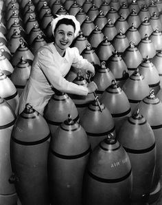1940s WW2 bomb production ~
